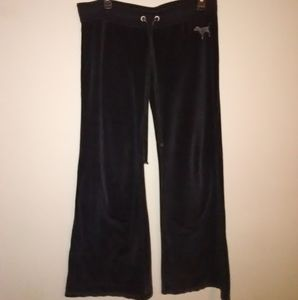Pink Victoria's Secret women's sweatpants black